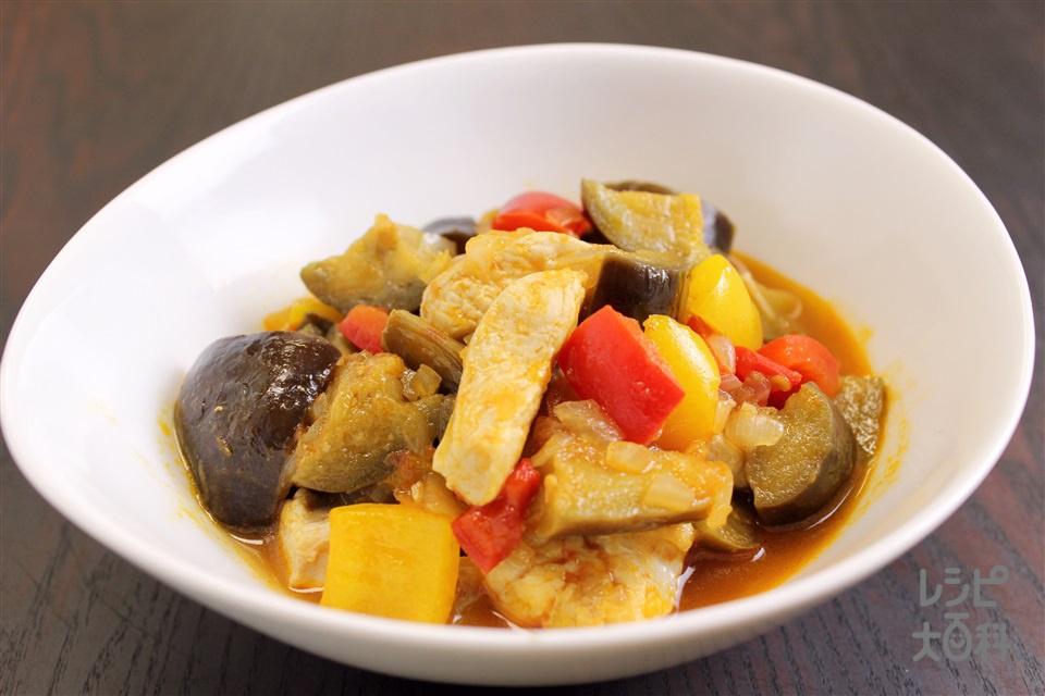 冷たい和風チキンラタトゥイユ(鶏むね肉+なすを使ったレシピ)