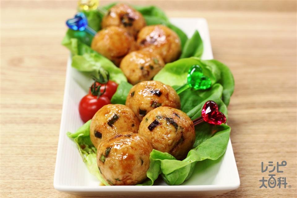 チキンボールの甘辛煮(鶏ひき肉+「瀬戸のほんじお」を使ったレシピ)
