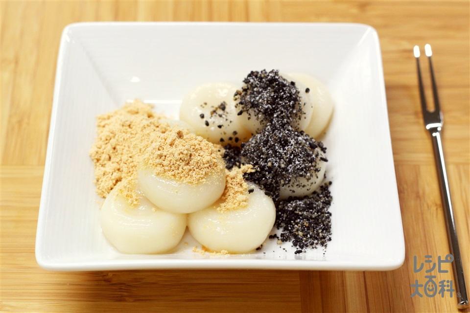 もちもち白玉だんご(白玉粉+絹ごし豆腐を使ったレシピ)