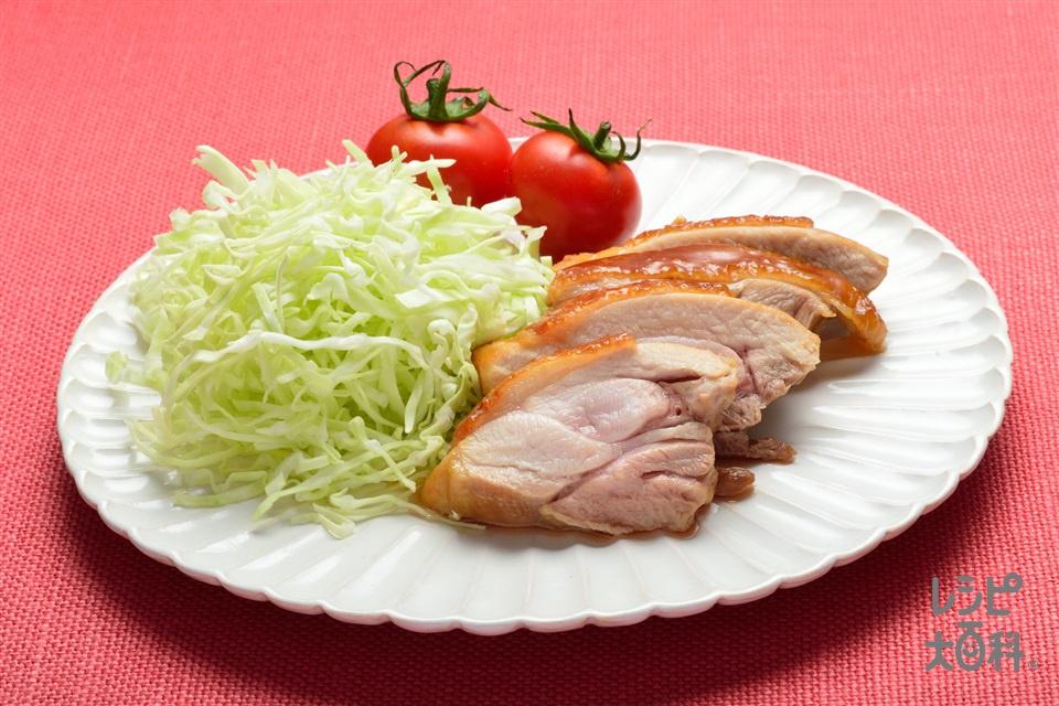 カロリーカットの鶏の照り焼き(鶏もも肉+キャベツのせん切りを使ったレシピ)
