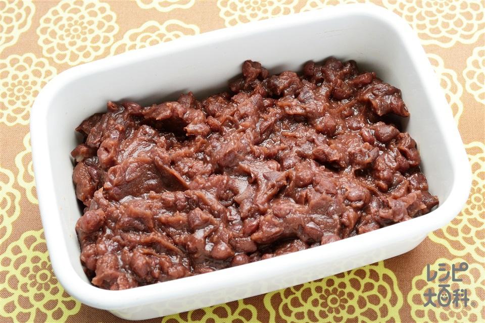 小豆あん(あずき(乾)+三温糖を使ったレシピ)
