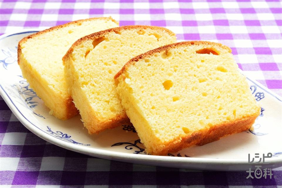 パウンドケーキ(薄力粉+卵を使ったレシピ)