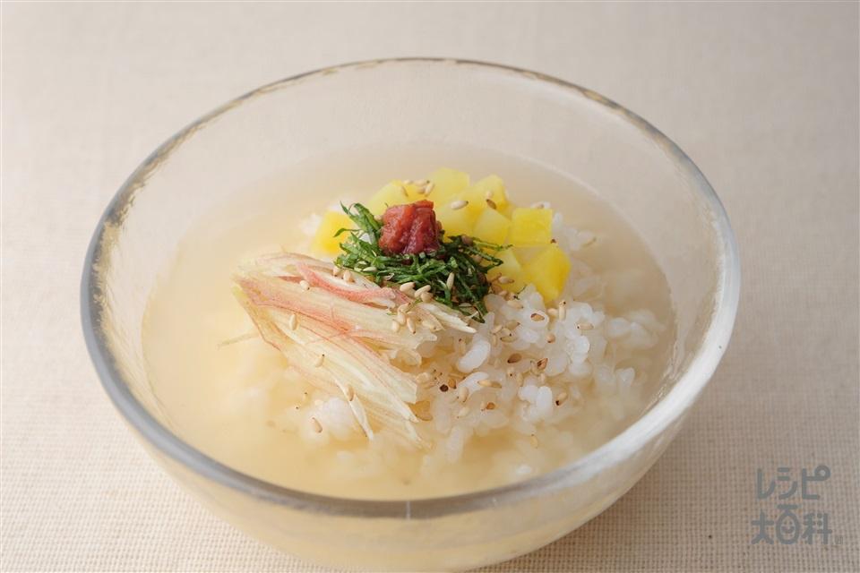 簡単冷や汁(たくあん漬け+ご飯を使ったレシピ)