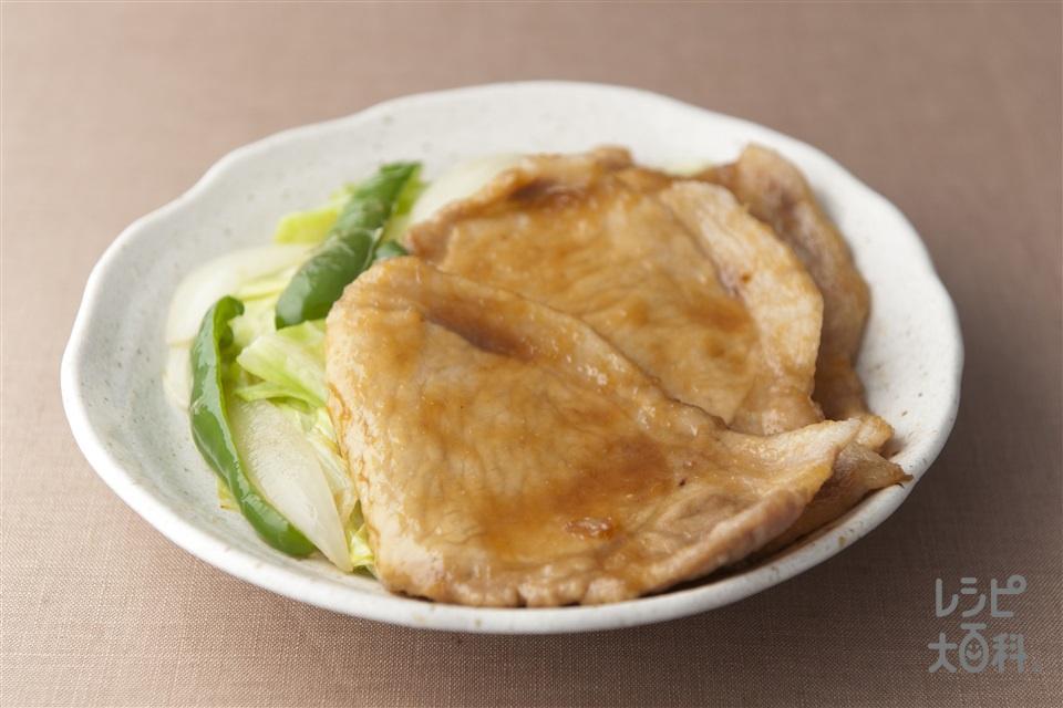 豚肉のしょうが焼き(豚ロースしょうが焼き用肉+玉ねぎ(大)を使ったレシピ)