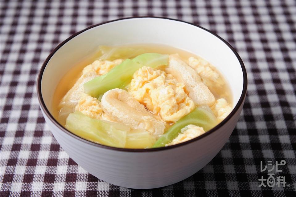 卵とじみそ汁(キャベツ+溶き卵を使ったレシピ)