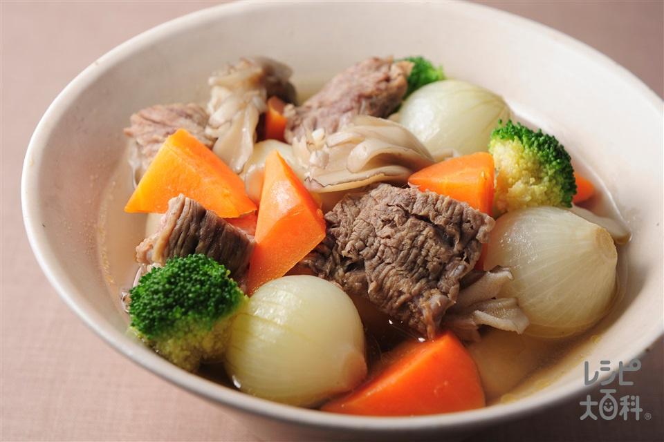 和風ポトフ(牛スジ肉+ペコロスを使ったレシピ)