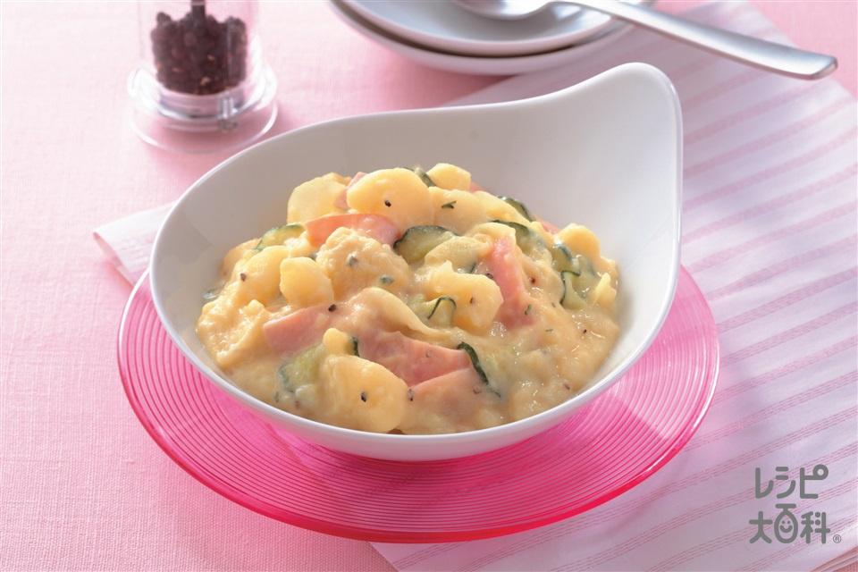 コーン風味のポテトサラダ(じゃがいも+牛乳を使ったレシピ)