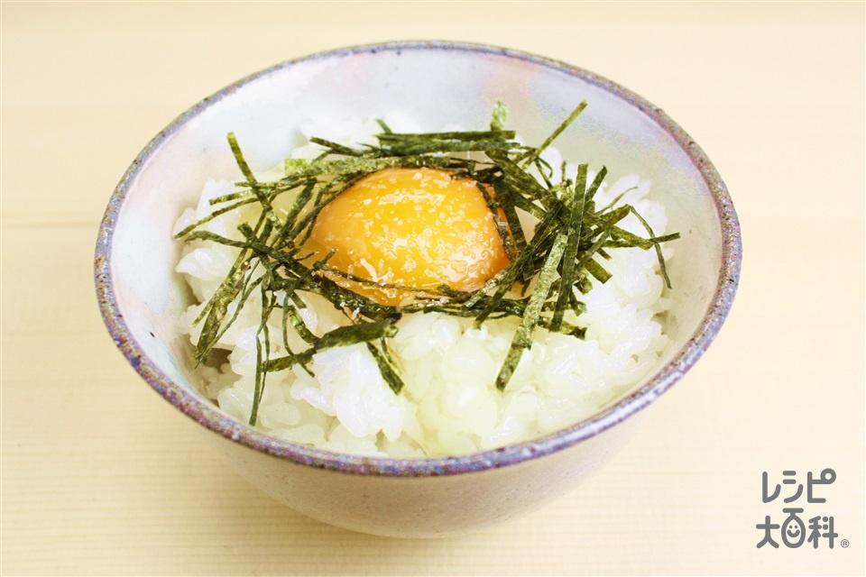 たまごかけご飯(炊きたてご飯+卵を使ったレシピ)
