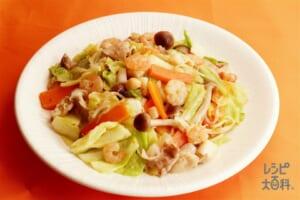 シーフードと野菜の香味炒め