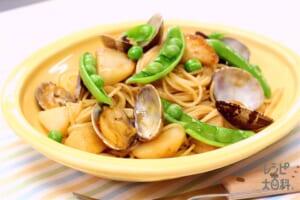 ~ガリバタしょうゆ風味の~あさりと新じゃがのスパゲティ