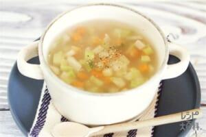 キャベツとブロッコリーの芯のスープ