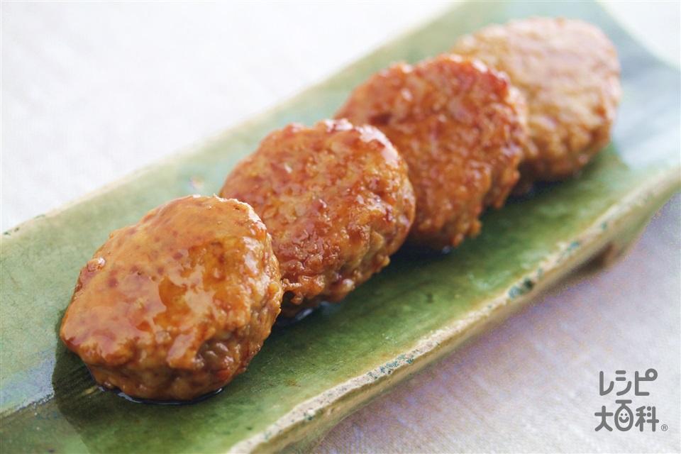 きんぴらをナイスリメイク!きんぴらつくね(鶏ひき肉+溶き卵を使ったレシピ)