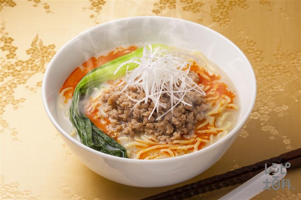 白湯担々麺(中華めん+豚ひき肉を使ったレシピ)