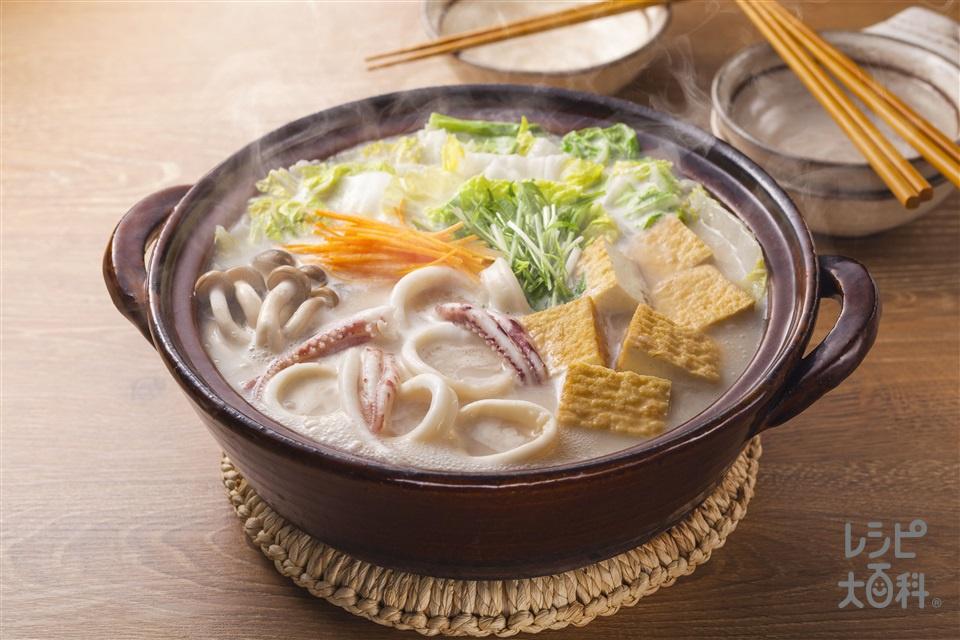 イカ鍋(いか+白菜を使ったレシピ)