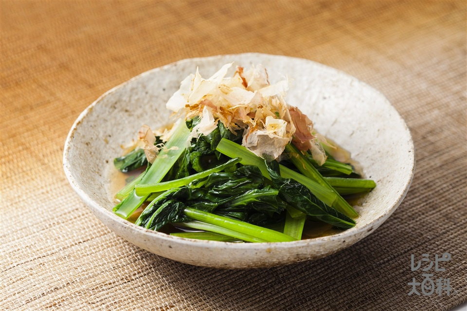 レンジで小松菜のおひたしのレシ...
