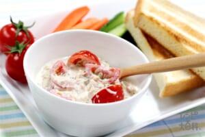 ミニトマト&ツナオニオンのヨーグルトディップ