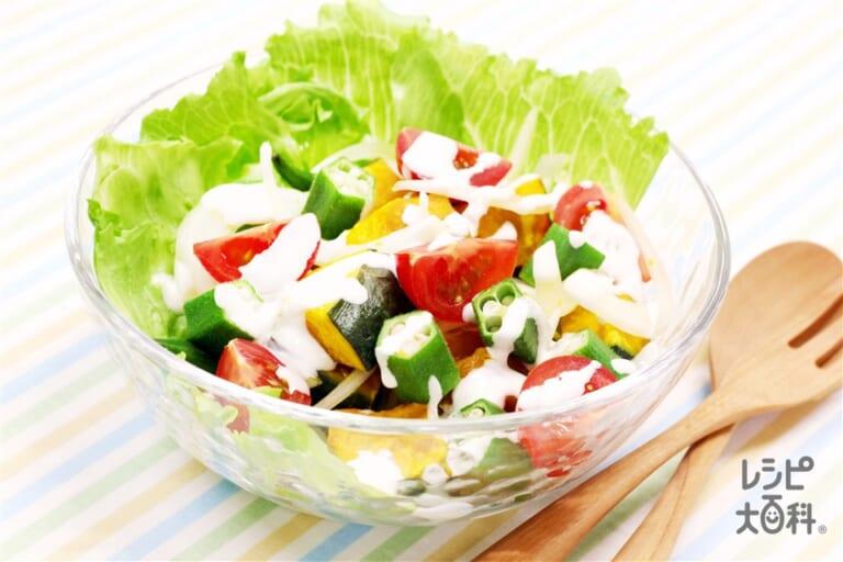 夏野菜たっぷり!ヨーグルトマヨサラダ