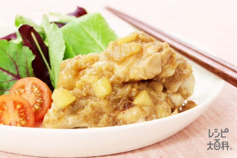 鶏手羽元のりんご煮