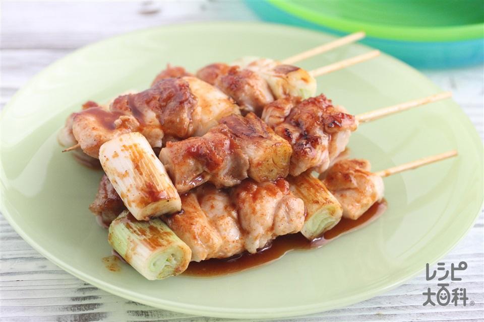 ピリリ焼き鳥(鶏もも肉+長ねぎを使ったレシピ)