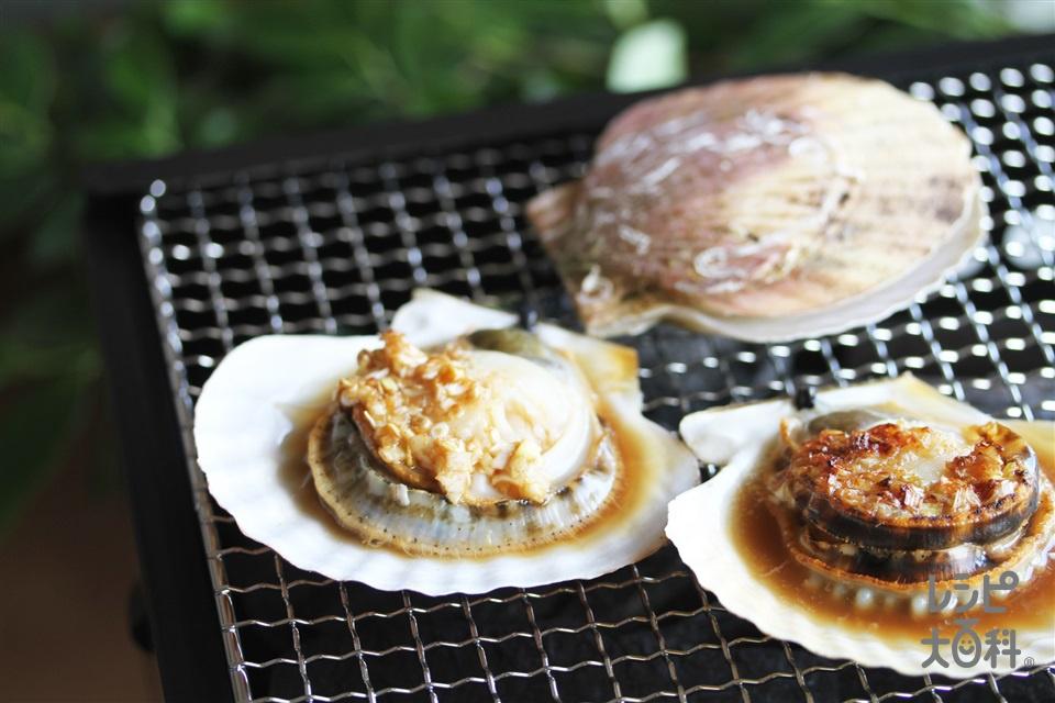 帆立のチャイナグリル(帆立貝(殻つき)+長ねぎを使ったレシピ)
