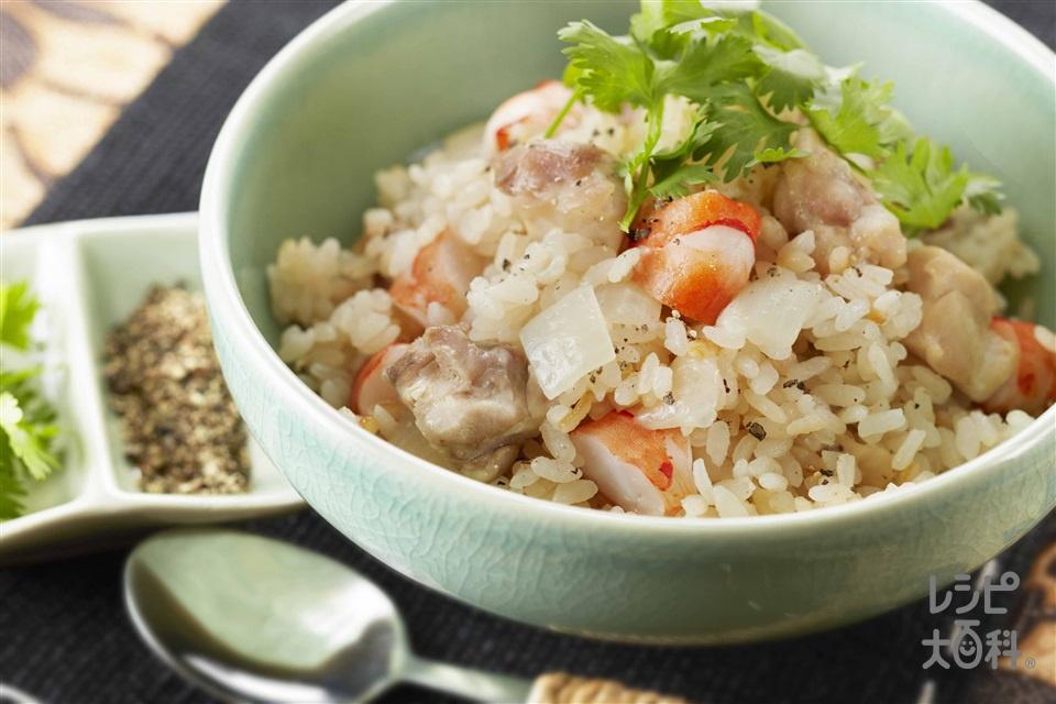 エスニックチキンライス(米+鶏もも肉を使ったレシピ)