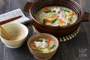 鍋の〆 白湯ラーメン