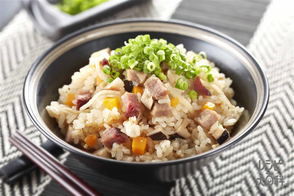 中華おこわ風(米+チャーシューを使ったレシピ)