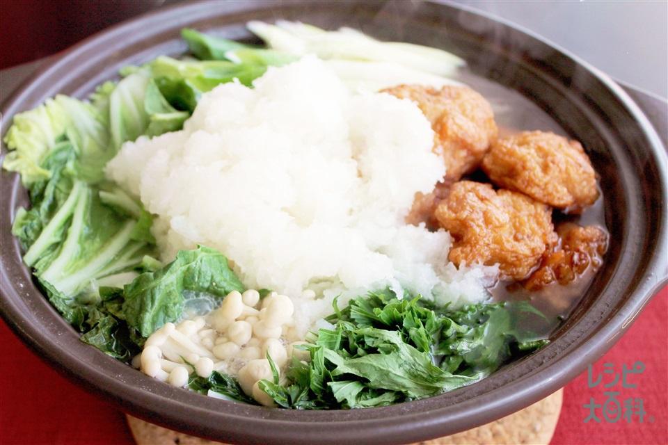 ボールかまぼこのみぞれ鍋(白菜+大根おろしを使ったレシピ)
