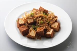 厚揚げともやしの黒酢炒め(厚揚げ+もやしを使ったレシピ)