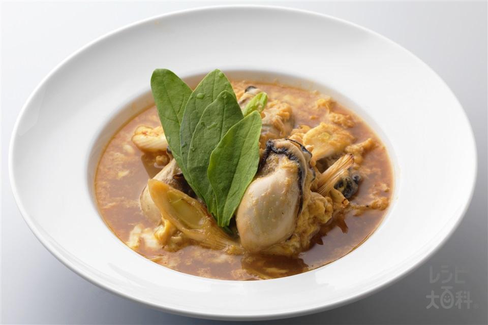 牡蠣のたまごとじ(かき(むき身)+卵を使ったレシピ)