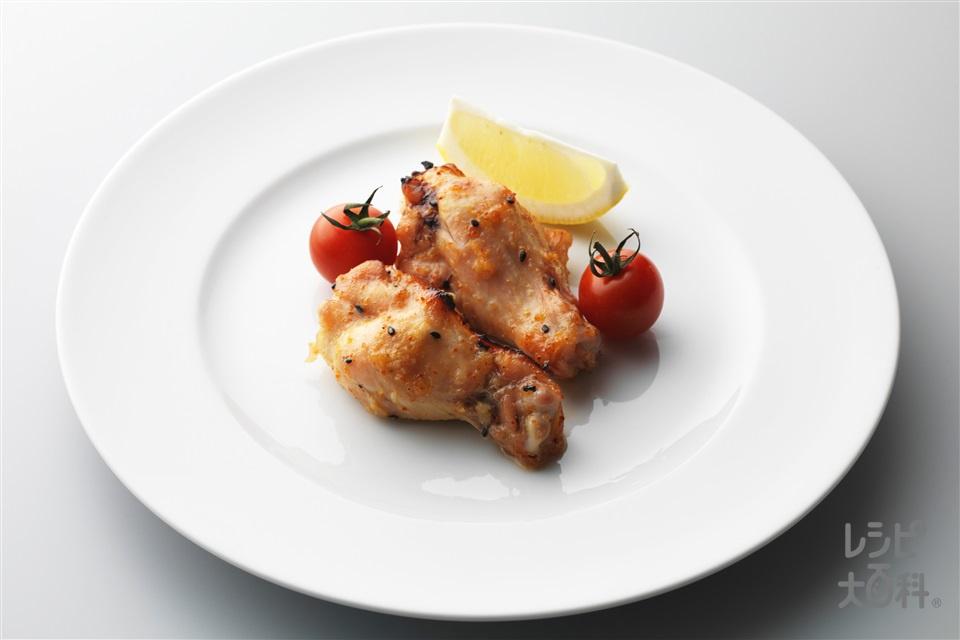 手羽元のピリ辛グリル(鶏手羽元+ミニトマトを使ったレシピ)
