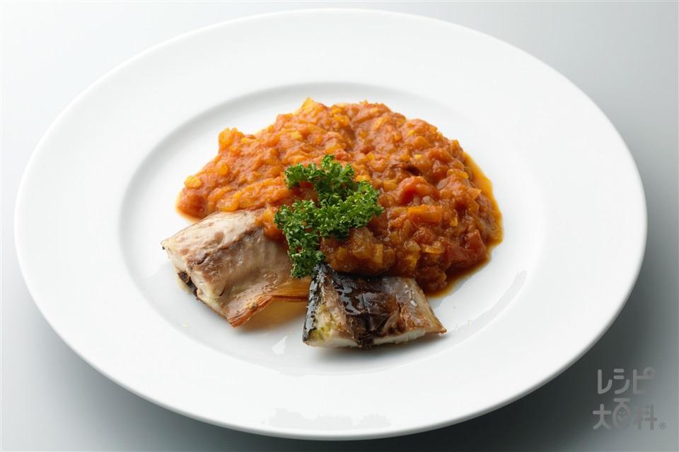 サバのトマトカレーソース(さば(切り身)+カットトマト缶を使ったレシピ)