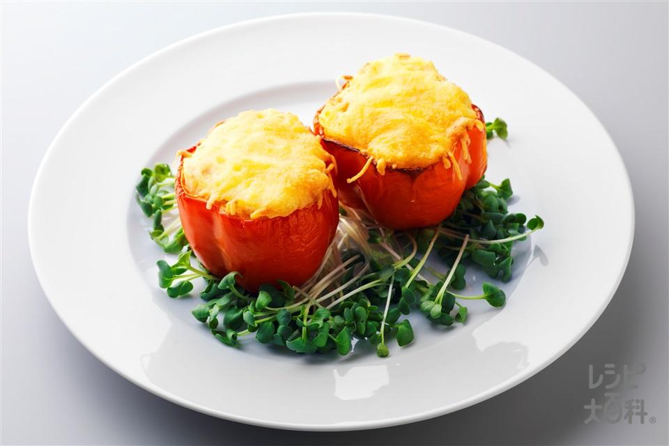 パプリカのポテトグラタン(じゃがいも(小)+パプリカ(赤)を使ったレシピ)