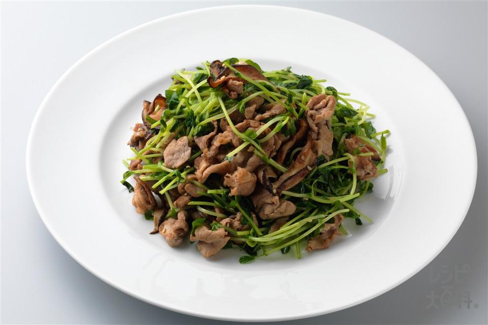 豚肉の豆苗炒め(豚こま切れ肉+豆苗を使ったレシピ)