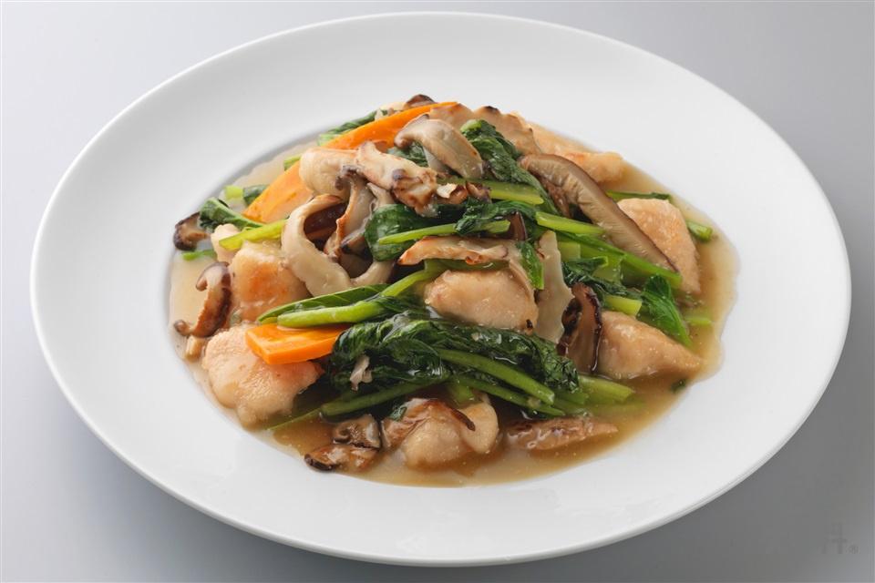 鶏ささ身の野菜とろり炒め