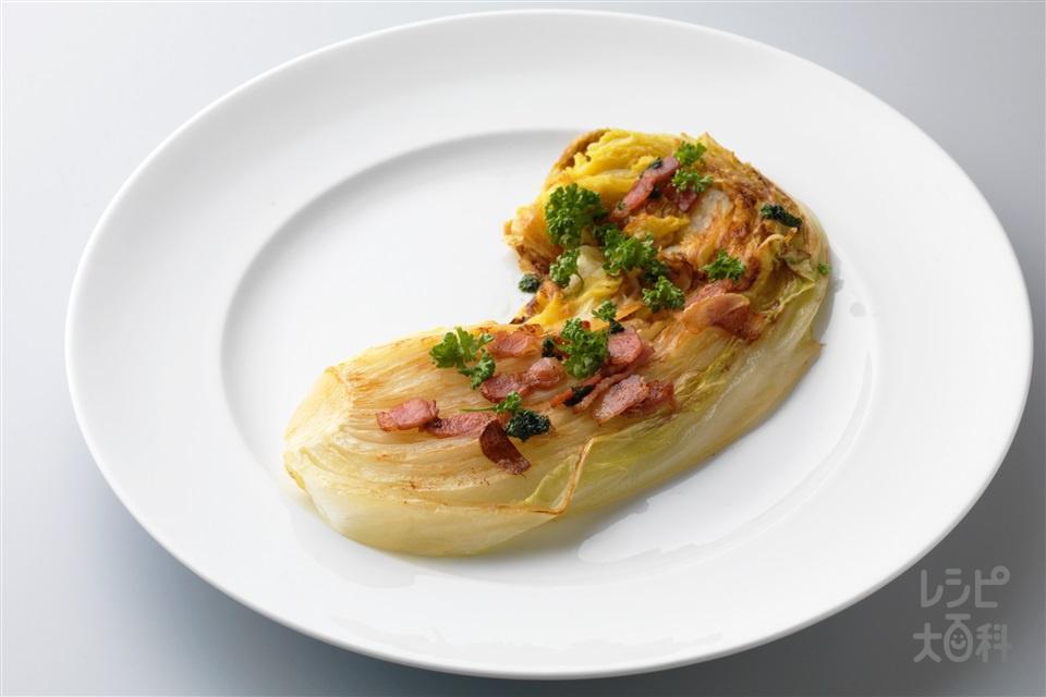 白菜のステーキ(白菜+ベーコンを使ったレシピ)