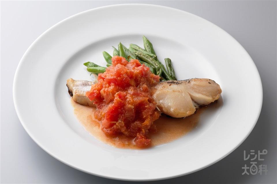 たらのトマトおろしソース(たら(切り身)+トマトを使ったレシピ)