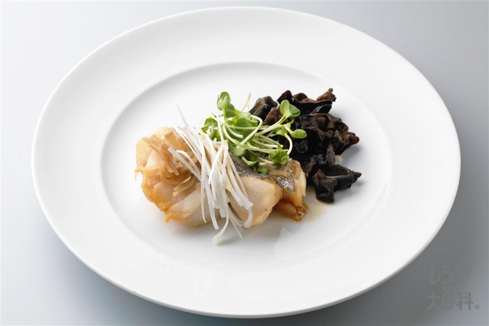たらの中華風レンジ蒸し(たら+長ねぎを使ったレシピ)