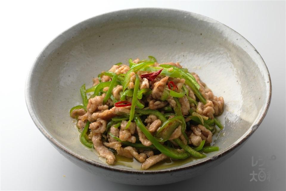 和風チンジャオロウスー(豚ヒレ肉+ピーマンを使ったレシピ)