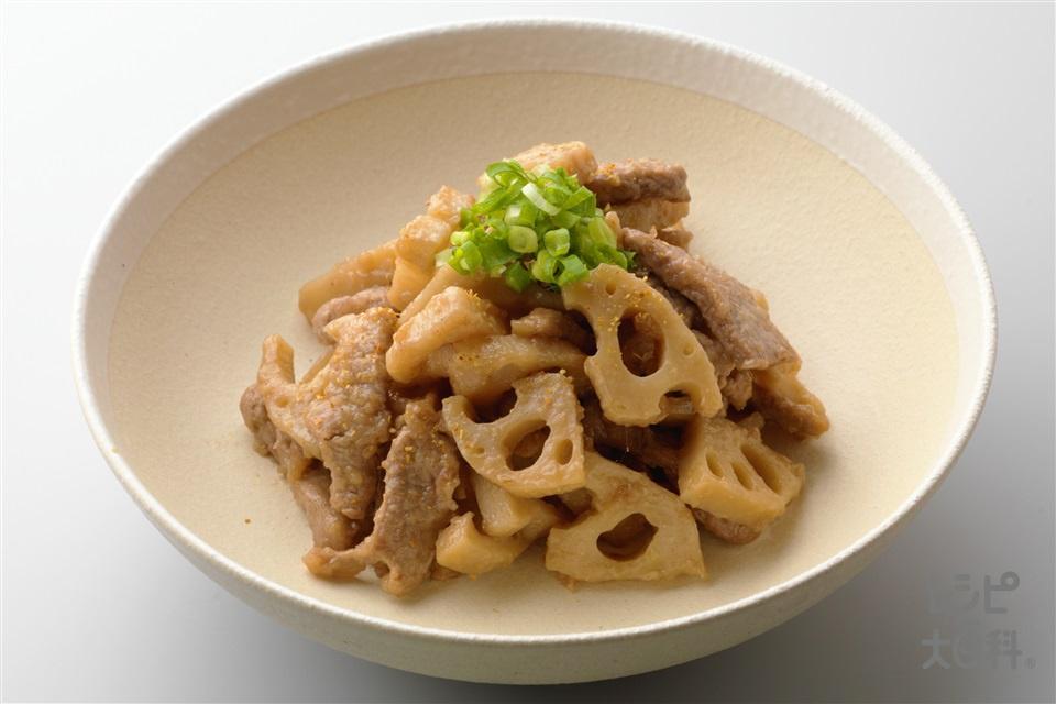 れんこんと豚肉のみそ炒め(豚ヒレ肉+れんこんを使ったレシピ)