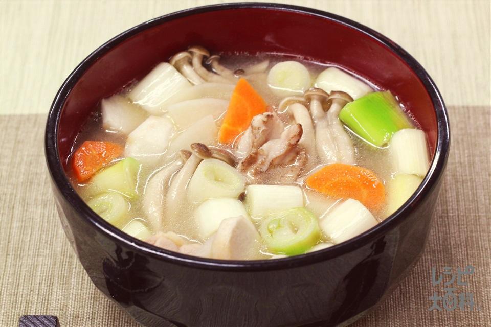 ねぎの絶品汁(鶏もも肉+長ねぎを使ったレシピ)