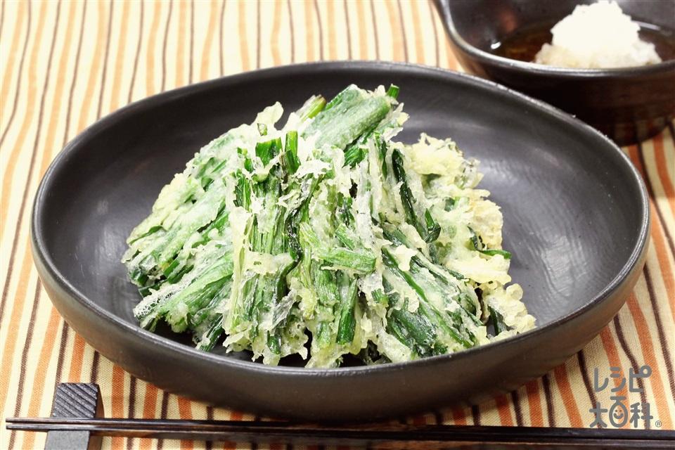 にらの天ぷら(にら+天ぷら粉を使ったレシピ)
