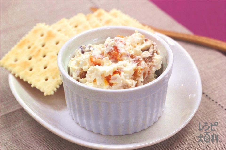 ドライフルーツのフレッシュチーズ風(水きりヨーグルト+ドライフルーツを使ったレシピ)