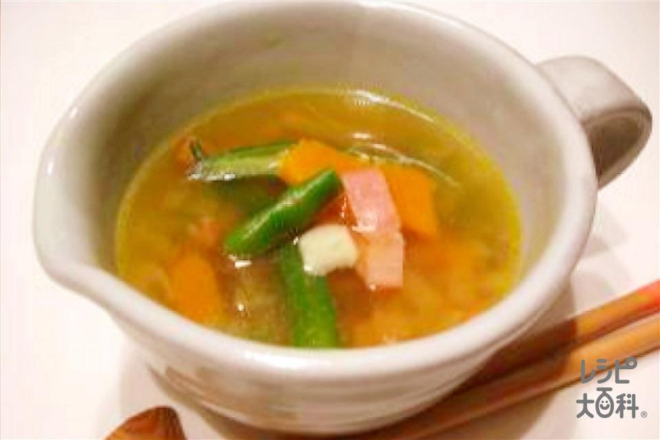 夏野菜のおかず椀 ~中華風~(かぼちゃ+玉ねぎを使ったレシピ)