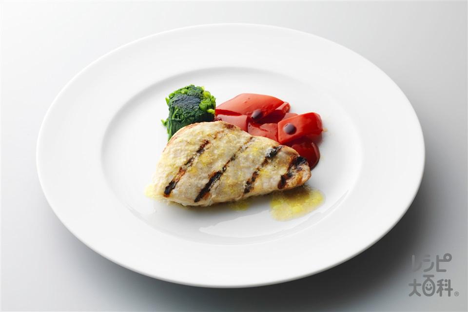 めかじきのグリル レモンチーズソース(めかじき+ほうれん草を使ったレシピ)