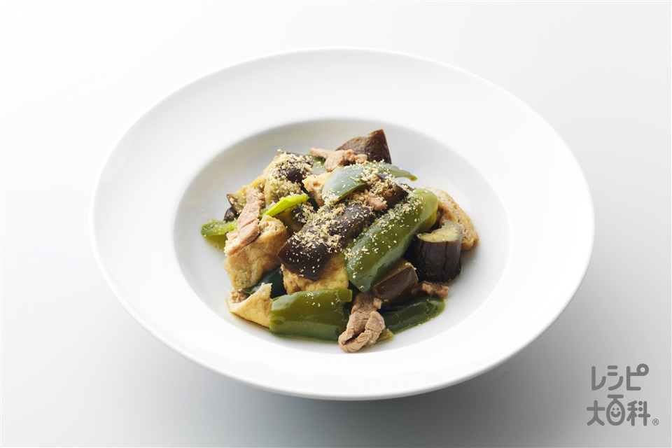 豚肉と野菜の炒め煮(豚ヒレ肉+油揚げを使ったレシピ)