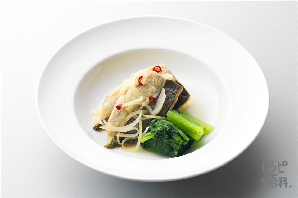 焼きあじの南蛮づけ(あじ三枚おろし+玉ねぎを使ったレシピ)