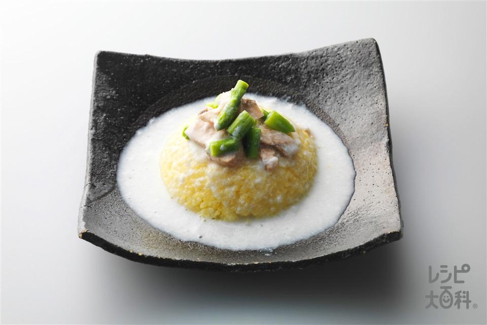 黄金炒飯 さけのクリーミーあんかけ(ご飯+牛乳を使ったレシピ)