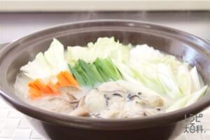 かきの濃厚白湯鍋
