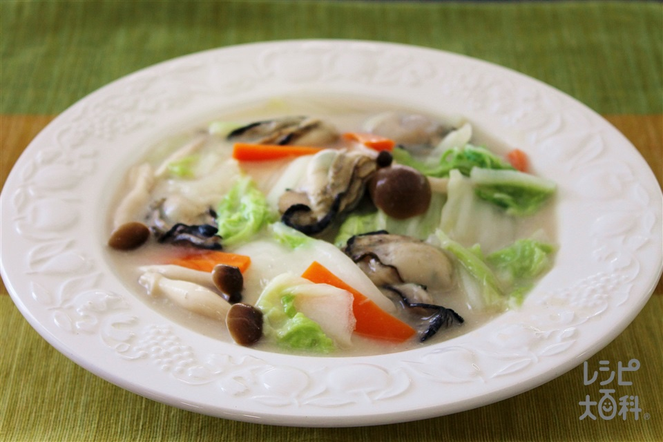 かきと白菜クリーム煮(かき(むき身)+白菜を使ったレシピ)